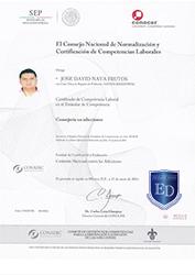 Certificado de Consejeria en Adicciones - David Nava