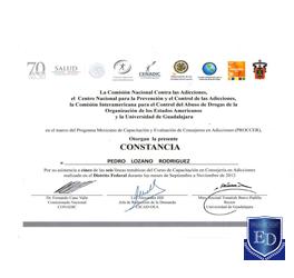 Programa Mexicano de Capacitación y Evaluación de Consejeros en Adicciones ( PROCCER )