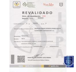 Revalidación Registro IAPA
